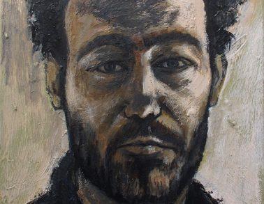 Autoportrait, acrylique sur toile, 60x40cm, 2017 -- Collection particulière