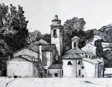Abbaye de Parodi-Ligure, encre, Saïssi