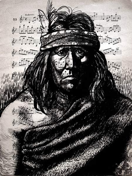 Apache, encre, partition, Saïssi