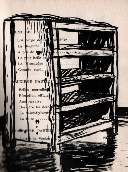 meuble, syntaxe, encre, papier imprimé, Saïssi