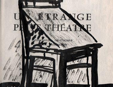 Chaise et cire, encre de chine sur page de livre, 2010 -- Collection particulière