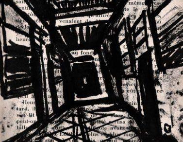 couloir, encre, papier imprimé, Saïssi