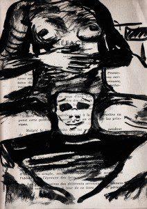 Francesca mask, encre, Saïssi