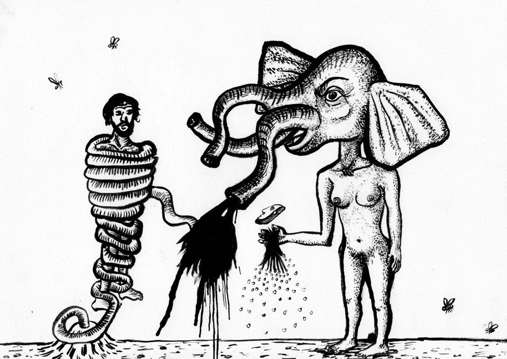 L'artefact, encre, Saïssi