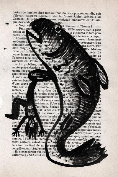 Vengeance du poisson, encre, Saïssi