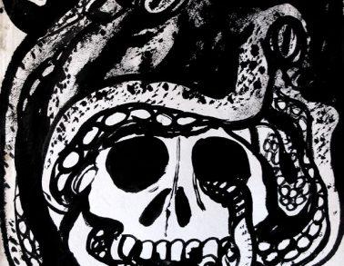 Pieuvre et crâne, 2010
