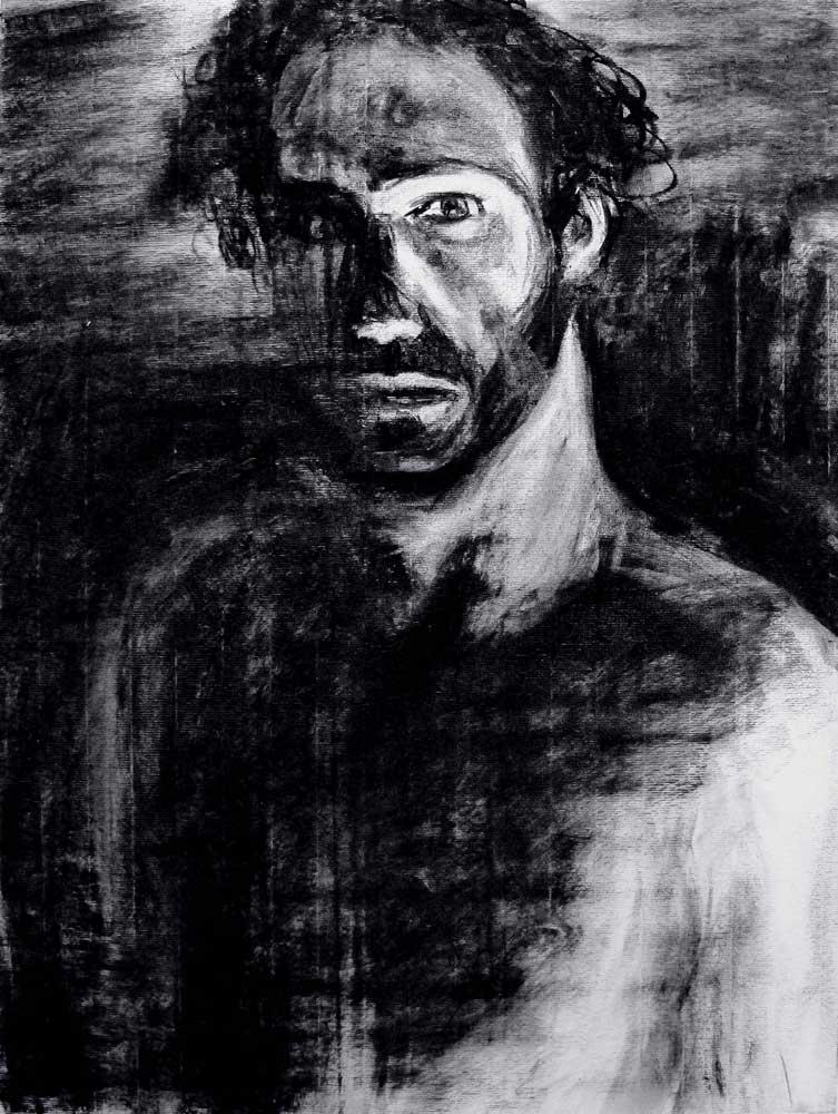 Dark Saïssi, fusain, 2015