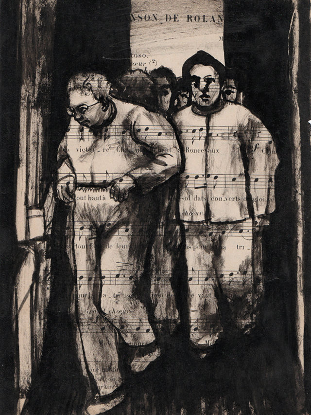 Patients, encre de chine