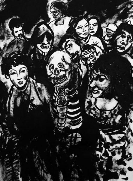 Freaks, encre de chine sur canson A4, 2019