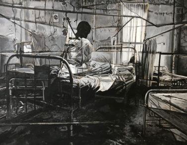 Asylum #3, acrylique sur toile, 130x81, 2020