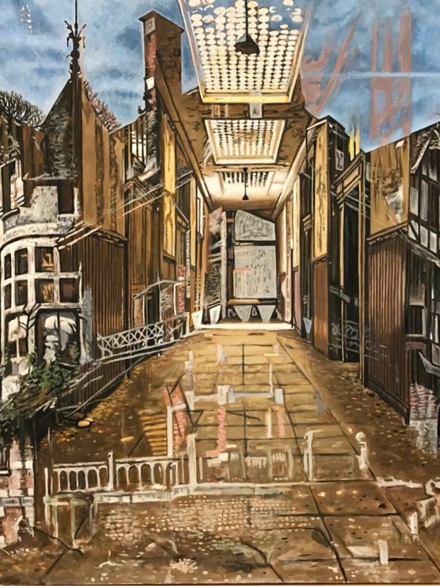 Le Manoir, huile sur toile, 130x150cm, 2021 -- Collection particulière