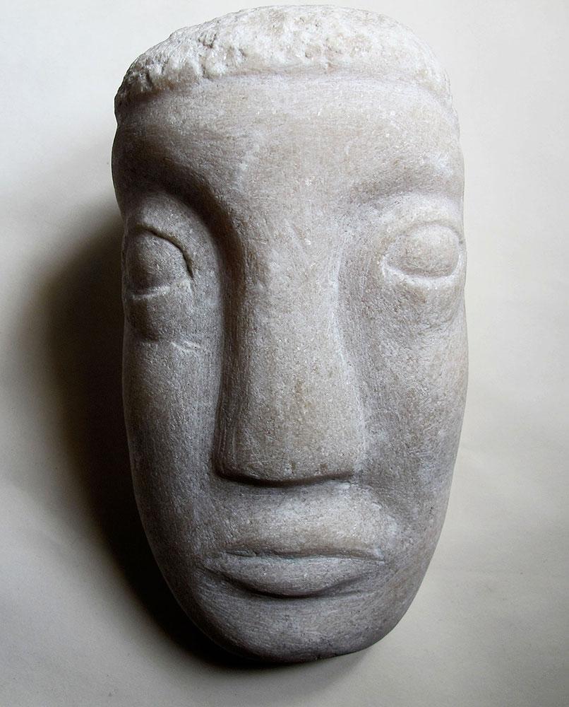 Tête marbre Applique